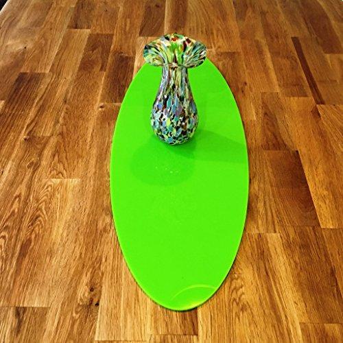 (Lime Grün Oval Acryl Tischläufer, plastik, grün, Large - 60 x 22 cm)
