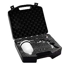 BenBow Lackierpistole PK60 HVLP 1,4mm + 1,8mm Düse im Koffer + Zubehör Set Profi Qualität - Spritzpistole Allzwecklackierpistole Sprühpistole Spraypistole Farbsprühsystem mit 600ml Fließbecher