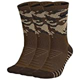 Nike Chaussettes de Training Camouflage Everyday Max Cushion (3 P Homme, Canvas/Neutral Olive/Bla, FR (Taille Fabricant : XL)