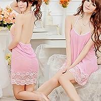 Puntas–Vestido Uniforme Color Traje de color rosa transparente vestido tamaño