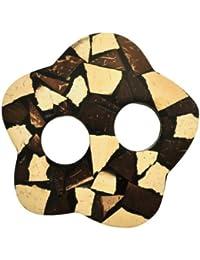 1 World Sarongs Sujetadores de Pareo con Incrustaciones de Coco