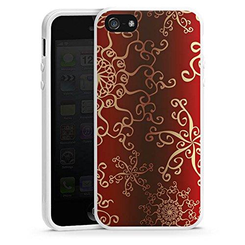 Apple iPhone 4 Housse Étui Silicone Coque Protection Motif Motif Orient Housse en silicone blanc