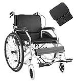 DFKDGL Leichtgewichtrollstuhl Faltbarer Rollstuhl Reiserollstuhl, Transportrollstuhl Reiserollstuhl Faltrollstuhl Leichtgewichtrollstuhl Klappbar Fußstützen abnehmbar