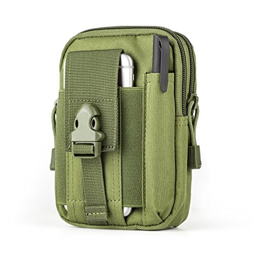 Bylove Tactical Molle Pouch EDC Utility Gadget Belt Waist Bag with Cell Phone Holster Holder for iPhone 6 Plus (Army Green) -
