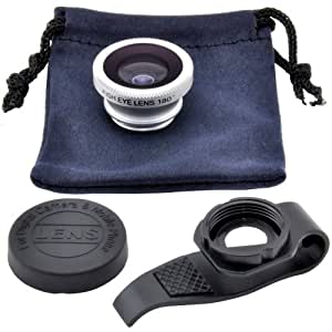 SODIAL(R) Fish-eye amovible 180¡ãde camera Objectif portable pour Apple Iphone 4 4g 4s/5 5th/ipod Touch 4/Touch 5/ipad 2 Ipad 3 ipad Mini