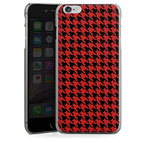 Apple iPhone X Silikon Hülle Case Schutzhülle Muster Hahnentritt Rot Schwarz Hard Case anthrazit-klar