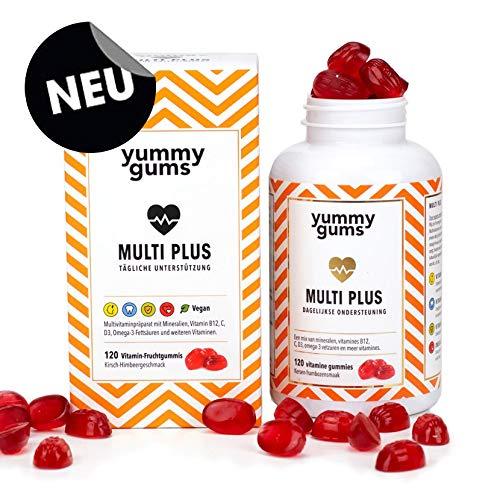 *NEU* Yummygums Multivitamin Gummibärchen vegan für Kinder - 120 Vitamin Gummibären für die tägliche Unterstützung der Kids mit wichtigen Multi-Vitaminen, Mineralstoffen und Spurenelementen