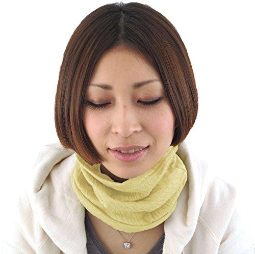 Casualbox Damen Stirnband Hals wärmer Beanie Mode gemacht in Japan Gelb -