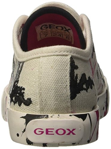 Geox Jr Ciak Girl D, Scarpe da Ginnastica Basse Bambina Bianco (White/Fuchsiac0563)