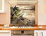 Klebefieber Spritzschutz Olivenzweig B x H: 80cm x 60cm