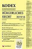 KODEX Bürgerliches Recht 2015/16