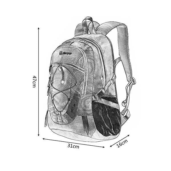 Soarpop deporte al aire libre Escuela de mochila de peso ligero para acampar Ciclismo Mochila Bolsa viaje Escalada Correr