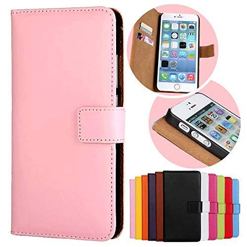 Roar Handy Hülle für Motorola Moto G (G2, 2.Generation), Handyhülle Rosa, Tasche Handytasche Schutzhülle, Kartenfach und Magnet-Verschluss