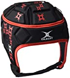 Gilbert Attack Blitz Enfants - Casque de Rugby Noir Noir/Rouge 52.5-inch/Medium