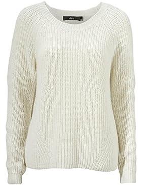 TopsandDresses–Reino Unido Plus tamaño 8–24Natural color marfil o negro algodón mezcla de lana jerséis suéteres