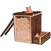 Trixie Large Wooden Digging Tower for Pet Hamster, 25 × 24 × 20 cm