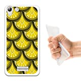 WoowCase Wiko Selfy 4G Hülle, Handyhülle Silikon für [ Wiko Selfy 4G ] Goldene drachefischskalen Handytasche Handy Cover Case Schutzhülle Flexible TPU - Transparent