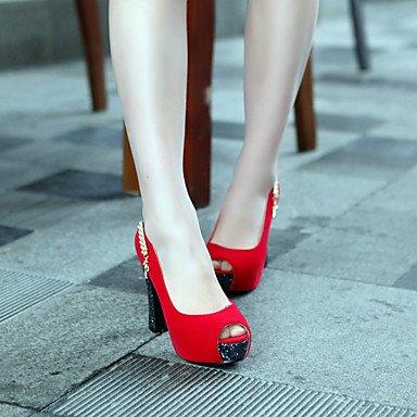 Talloni delle donne Primavera Autunno scarpe formali in similpelle per ufficio Outdoor & amp;Partito & amp Carriera;Abito da sera casuale tacco grosso Sp US3.5 / EU33 / UK1.5 / CN32