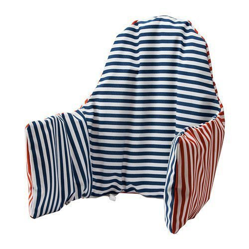 Reversible Luft (Ikea High Chair Cushion Antilop & Cover - Reversible with 2 colors red or blue (Model: PYTTIG))