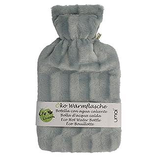 UMOI Öko Wärmflasche 2 Liter mit hochwertigem Fur Fleece Bezug BS1970:2012 zertifiziert
