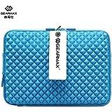 Gearmax® Antichoque caso de moda bolso de la manga del ordenador portátil en modelo del diamante con abertura de carga de 13.3 pulgadas del ordenador portátil / Notebook(Azul)