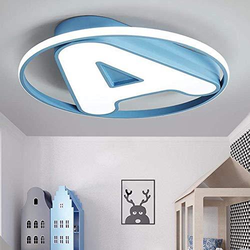 Henley plafoniera moderna per cameretta dei bambini, 24 w, 6000 k, led, design rotondo, illuminazione da soffitto per ragazzi e ragazze, lampada da soffitto per camera da letto, Ø 50 cm pink