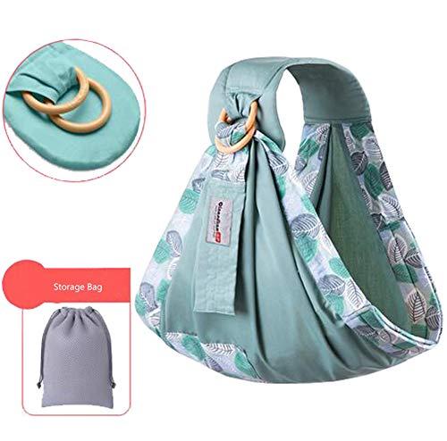 Rengzun Babytragetücher Verstellbare Babytragen Ring Sling Wasser Atmungsaktiv Babytrageverpackung Tragetuch für Babywickel (1-3Jahre) -Maximale Belastung bis 50 KG