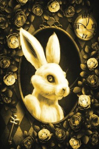 alice-in-wonderland-modern-journal-outwards-white-rabbit-yellow-100-page-6-x-9-ruled-notebook-inspir