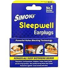 Simon's Sleepwell Earplug - 3 Pairs Reusable Silicone Earplug (FREE carry case, SILICONE EARPLUGS)