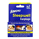 Simon's Sleepwell Earplug - 3 Pairs Reusable Silicone Earplug (FREE carry case, SILICONE EARPLUGS)