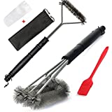 360° BBQ Grill Brush - 18 Inches - 3 in 1 Stainless Steel Barbecue Cleaner Tools Perfect Cleaner And Scraper for Weber, Charbroil, Gas, Electric,
