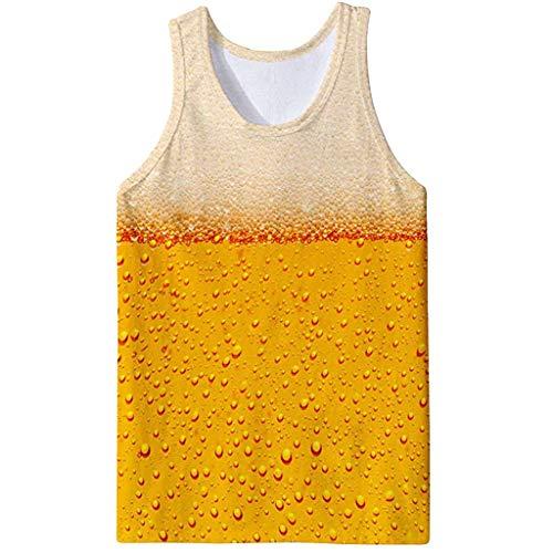 Canotta uomo 3d, yu'ting ☀‿☀ uomo 3d printed canotta summer casual maniche graphic tees t-shirt modello realistico della maglia palestra canotte uomo