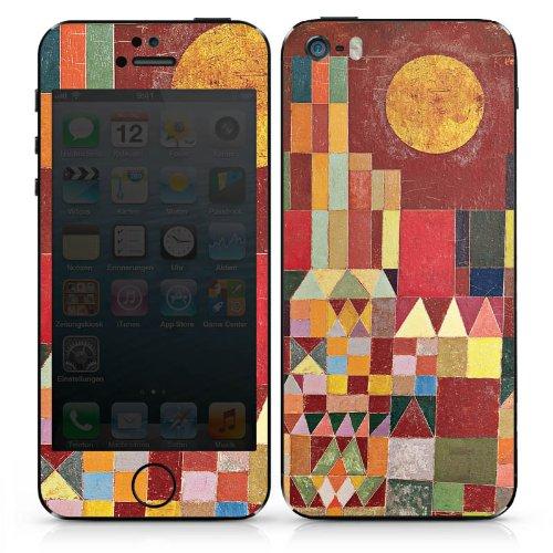 Apple iPhone SE Case Skin Sticker aus Vinyl-Folie Aufkleber Paul Klee Castle and Sun Kunst DesignSkins® glänzend