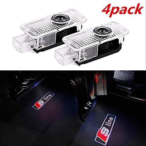 4 pezzi di luci per porte auto LED 3D Car Light Entry illuminazione lampada del proiettore di benvenuto Logo Light