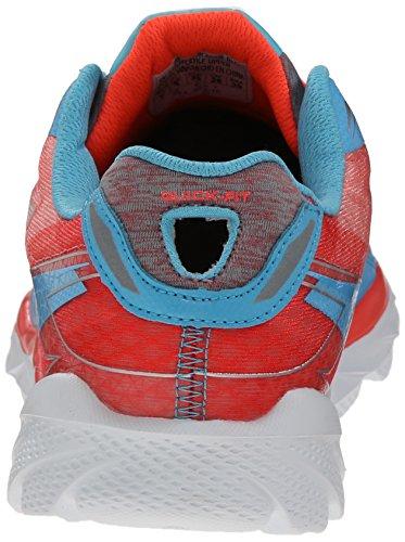 Skechers Go Run Ride 4 Excess, Running Entrainement femme Blue/Coral