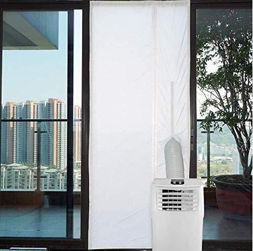 Marbeine - Guarnizione per finestra, per condizionatori, kit di calfeltratura mobili e asciugatrici a gas di scappamento, colore: Bianco