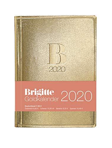 Brigitte Goldkalender 2020 - Taschenkalender - 10x14cm - Buchkalender - Organizer - Planner