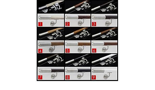 150cm Fello Main Courante Noir Inox acier inoxydable support mural Escalier Balustrade hand-rail
