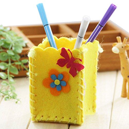 Mentin Kreative DIY Handwerk Kit Handmade Bleistift Inhaber Kinder Handwerk Spielzeug Lernspielzeug