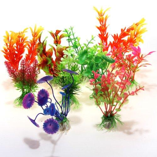 10x Wasserpflanzen Kuenstliche Aquarium Pflanzen Pflanze 10er Set Deko Fisch Tank