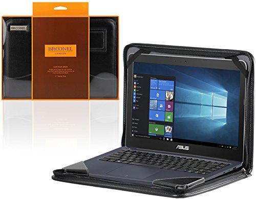 """Broonel - Contour Series - Cuir Noir Housse de protection pour la HP ENVY x360 Convertible Laptop 15.6"""""""