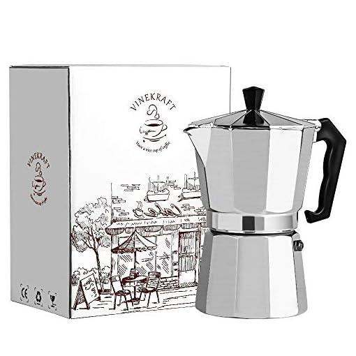Vinekraft Moka Pot Espresso Maker Stovetop Coffee Maker – 6 cups/300ml