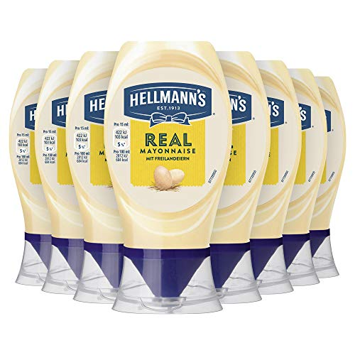 Hellmann's Mayonnaise Hellmann's Real, 8 x 250 ml