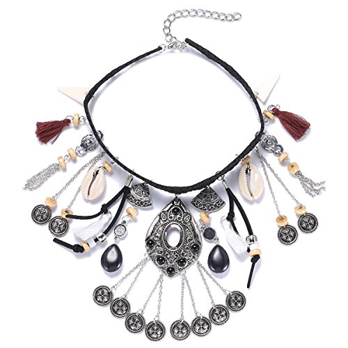 woman-retro-simple-alloy-tassel-multilayer-necklace-fashion-adjustable-neckblack-l