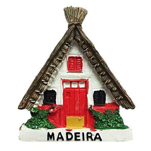 Kühlschrankmagnet Madeira Portugal 3D Harz Handgemachtes Handwerk Touristische Reise Stadt Souvenir Sammlung Brief Kühlschrank Aufkleber