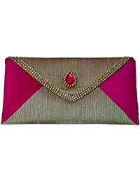 Designer Single Piece Attractive Multicolor Combination Ethnic Traditional Clutch/sling Bag With Eye Catching...