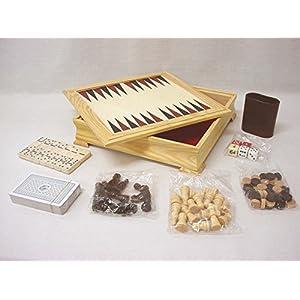 Desconocido MULTIJUEGOS DE Mesa AJEDREZ Damas Domino Cartas BARAJA Dados Backgammon