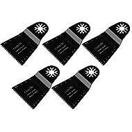 cnbtr 65x 40mm schwarz kohlenstoffreicher Stahl Japan Zahn Form Universal oszillierendes Sägeblatt Multi Tools Set von 5