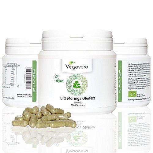 Moringa Oleifera Biologica Vegavero | Pura e da Agricoltura Biologica - in 300 pratiche capsule da 400 mg | Pianta Depurativa - Disintossicante ricca di Proteine - Omega 3 - 6 -9 - Amminoacidi - Vitamine e Minerali | Detox - Energia - Colesterolo - Circolazione - Digestione - Metabolismo Lipidi - | Certificati di analisi disponibili su richiesta!
