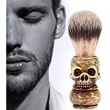 Shaving Brush, Grooming Tool Makeup Skull Head Barber Salon Beard Brushes For Men